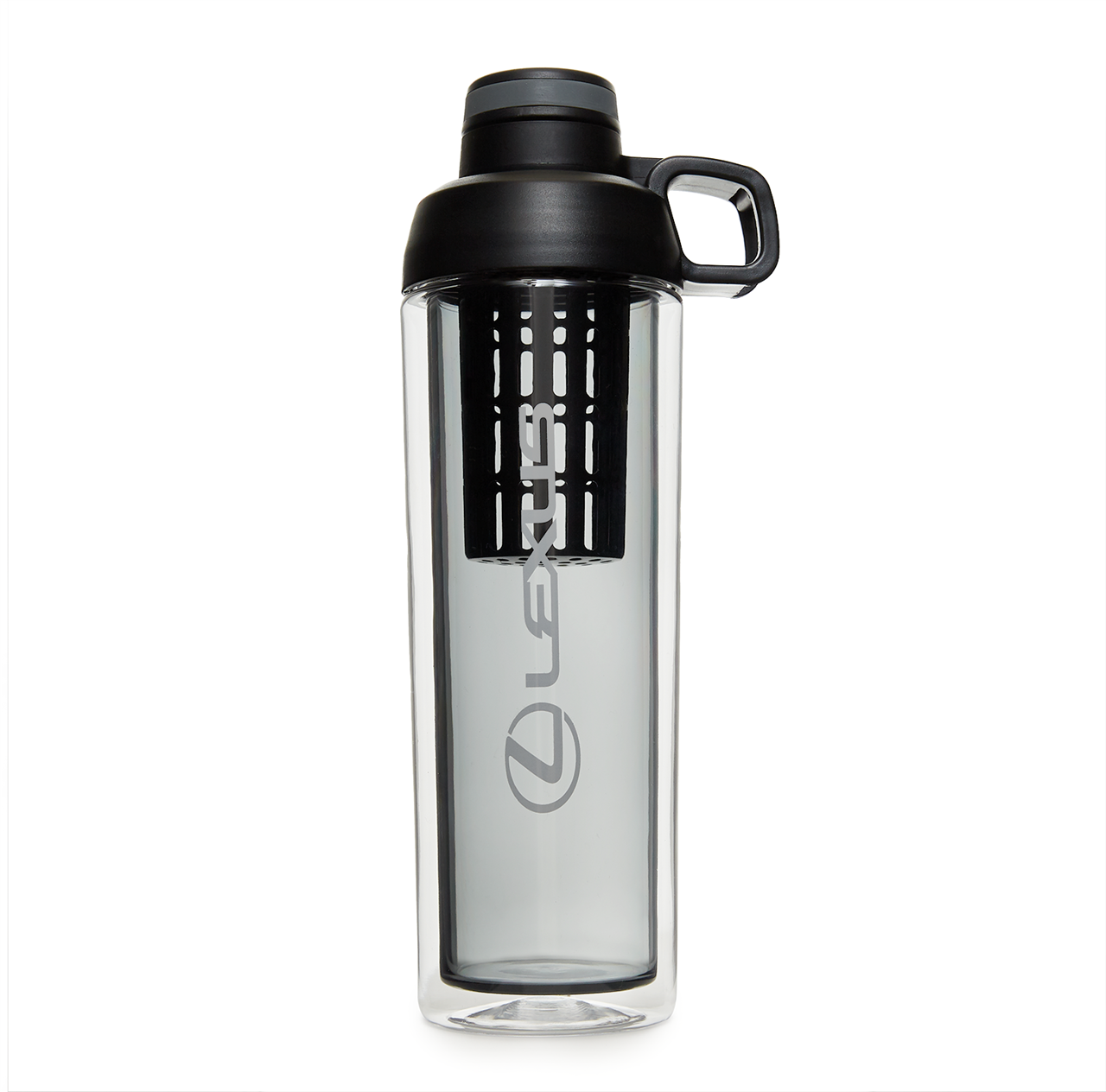 Clear and Grey/Black Tritan Infuser Bottle